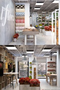 36 best Ideas for flowers shop decoration Flower Shop Decor, Flower Shop Design, Shop Front Design, Florist Shop Interior, Shop Interior Design, Store Design, Design Shop, Flower Shop Interiors, Coffee Flower
