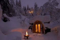 Beautiful mini-cabin hotel in the Swiss mountains