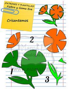 Plantillas de flores y plantas