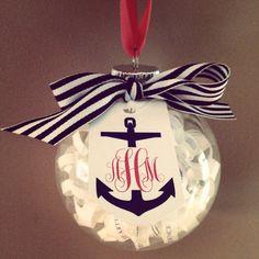 Nautical Wedding Invitation - cute bridal shower gift Ornament by BreakfastWithBentley // wedding // bride // marriage // love