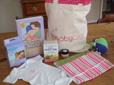 booby bag! an adorable gift bag for a new mama who plans to breastfeed.
