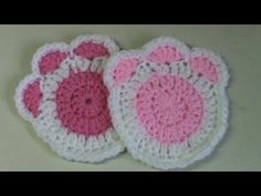 Haken - tutorial: kattenpootjes - YouTube