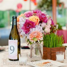 natural and rustic table numbers