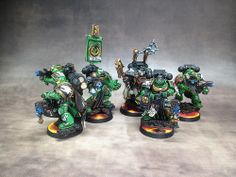 40k - Salamanders Sternguard Squad with Chaplain by Ranthok