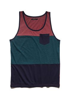 Colorblocked Pocket Tank | 21 MEN #SummerForever #21Men