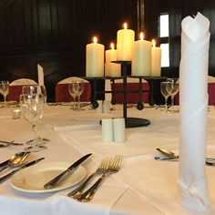 Official site of Kinnitty Castle Hotel, Ireland. Located in the beautiful countryside of Birr, Offaly. Hotel Wedding, Wedding Decor, Castle Hotels In Ireland, Black Candelabra, Fairytale Castle, Napkin, Countryside, Candle, Weddings