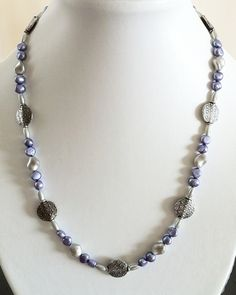 Lavender & silver necklace