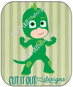 PJ Masks Character Gekko (Greg) SVG or Studio File