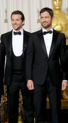 Oh now you're just being plain mean to me!!  LOL!  (Gerard Butler and Bradley Cooper)