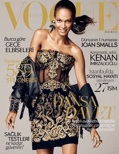 Joan Smalls Dons Dolce & Gabbana for Vogue Turkeys December 2012 Cover...Gold is so Holiday!