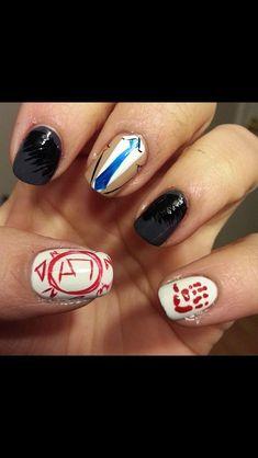 new ideas for makeup ideas eyeshadows nail art Halloween Nail Designs, Cute Nail Designs, Halloween Nails, Pretty Nail Art, Cool Nail Art, Supernatural Nails, Supernatural Cosplay, Hair And Nails, My Nails