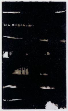 Trois gourdron sur verre | Pierre Soulages, 1948 | Pittura Poesia e Luce del NERO