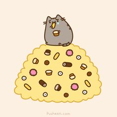 Pusheen is Sad About Twinkies