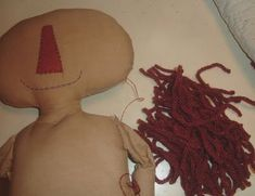 You are Special Patterns: Doll hair and how I attach to doll's head