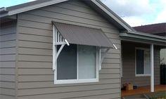window awnings exterior | Simple heritage window awning