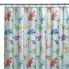 Dinosaur friends shower curtain