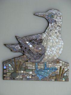Mosaic Birds, Mosaic Art, Booby Bird, Blue Footed Booby, Darwin, Symbols, Ink, Quilts, Animals