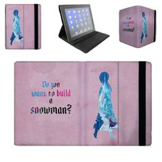 Anna Build a Snowman Quote Frozen Disney Princess - iPad 2 3 4 Mini Flip Case Cover in Book Style with Hard Shell