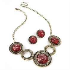 Necklace and earring set- Size-Necklace - 45 cm-Earrings - 2 cm