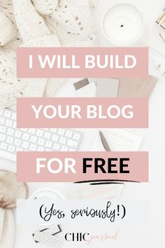 Limited Time Offer: Get Your Website/Blog Set Up For FREE! You will receive a free blog template (a premium, free WordPress theme!) and design if you sign up for my Blog In A Box Service. Find out more on The Chic Pursuit website! Free Blog Maker, Blog Templates Free, Blogger Tips, Blog Writing, Premium Wordpress Themes, Social Marketing, Blogging For Beginners, Make Money Blogging, How To Start A Blog