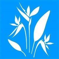 Трафарет Цветок Стрелиция 30,5 x 30,5 - ОЙ