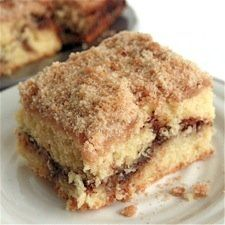I want this. In my mouth. Now.  Cinnamon-Streusel Coffeecake - Soft and moist, nicely cinnamon-y, this is the quintessential breakfast coffeecake.