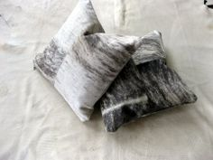 Soft and stylish hide pillows that can go on their bed or a living room couch. Can be paired with a down blanket to complete a luxurious look. Shop at disenobos.com