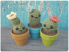 Gleeful Things » Free Crochet Pattern: Tiny Cacti