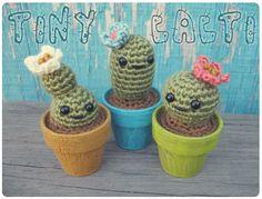 Gleeful Things » Free Crochet Pattern: Tiny Cacti