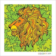 #Colorfy #PaintedItMyself #Animal #Art #Therapy #Leo