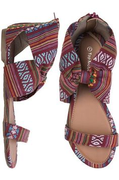 6 Mexican-Inspired Pieces for Cinco de Mayo: Swell Mexi Blanket Ankle Wrap Sandals.