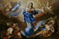Johann Michael Rottmayr, Triomphe de la Vierge immaculée, 1697. Huile sur toile, 148,5 x 223 cm. Salzburg Museum © Musée de Salzbourg / Rupert Poschacher