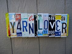 Made For a knitter @thelicenseplatelady. www.madewithfaith.com License Plate Art, Gifts, Design, Licence Plate Art, Presents, Favors, Gift