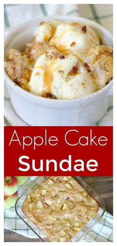 Apple Cake Sundae –