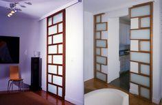 Not all doors have to be boring. Sliding Door Design, Sliding Doors, Modern Interior, Interior Design, Kitchen Room Design, Modern Door, Room Doors, Small Apartments, Home Bedroom