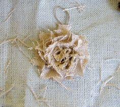 Under My Umbrella: burlap ornament-or a spunkier flower for a wreath