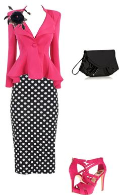 """Polk-a-pink"" by sarahliz804 ❤ liked on Polyvore"