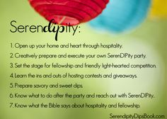 Such a FUN idea for a party... SerenDIPity!!
