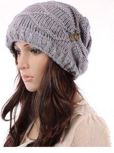 Amazon.com: SZ New Fashion Women Hat Cap Warm Winter Ski Braided Baggy Beanie Knit Crochet Hats: Clothing
