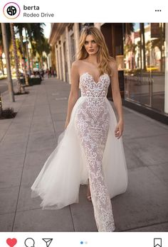 MUSE by BERTA Spring 2019 Wedding Dresses - City of Angels Bridal Collection Wedding Gowns unique, wedding dress unique Sexy Wedding Dresses, Elegant Wedding Dress, Perfect Wedding Dress, Elegant Dresses, Bridal Dresses, Wedding Gowns, Wedding Ceremony, Lace Wedding, Trendy Wedding