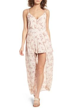 Free shipping and returns on BP. Floral Print Maxi Romper at Nordstrom.com. A flowy overlay sweeps behind you in a stylish mash-up that merges the romantic movement of a maxi with the easy comfort of a romper.