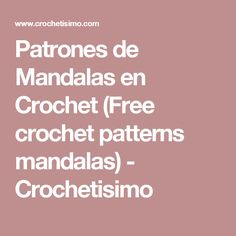 Patrones de Mandalas en Crochet (Free crochet patterns mandalas) - Crochetisimo Free Pattern, Projects To Try, Farmhouse Rugs, Tricot, Trapillo, Crocheting, Patterns, Manualidades, Tejidos