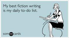 Why I took creative writing in college!