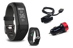 Garmin Approach X40 BlackGray Golf GPS  Fitness Band BUNDLE with PlayBetter USB Car Charge Adapter *** You can find more details by visiting the image link. Note: It's an affiliate link to Amazon