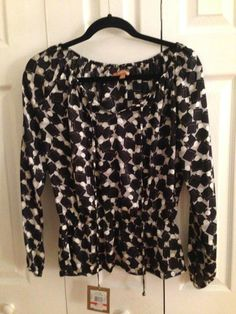 Ellen Tracy Peasant Blouse Size XS #EllenTracy #Blouse