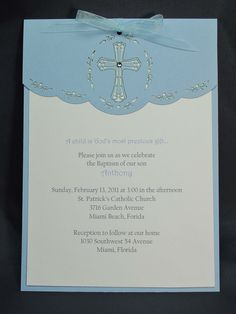 Communion Invitations - Baptism Invitations - Religious Events - Christening. $5.50, via Etsy.