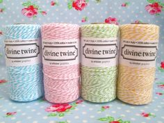 Sugar Pink Boutique...bakers twine in spring colors.  One of the best eyecandy blogs!