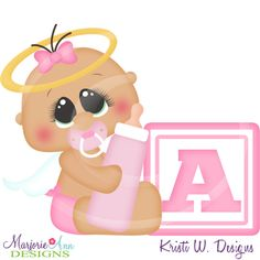 Alphabet Baby ~A~SVG-MTC-PNG plus JPG Cut Out Sheet(s) Our sets also include clipart in these formats: PNG & JPG