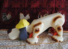 cachorro Xereta da Estrela da década de 70,  Brinquedo de AtividadesEstrela Pim Pam Pum  o cachorro farejador com chapéu de Sherlock Holmes: