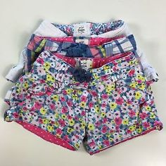 Mini Boden Lot of 3 Cotton Shorts Plaid Floral White Girls Size 5 C24   eBay